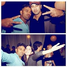 Ranbir and kat at a party