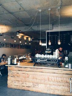 Oslo Kaffebar in Berlin / photo by Teodorik Mensl - kitchen inpsi My Coffee Shop, Coffee Shop Design, Coffee Cafe, Coffee Shops, Cafe Bar, Cafe Shop, Oslo, Restaurant Berlin, Restaurant Design