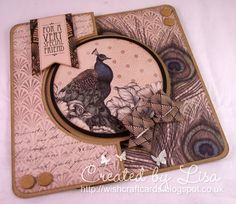 Happy Saturday everyone :o) I'm being lazy today and showing a 'here's one I made earlier' card, rather than the card I'd planned to sh. Craftwork Cards Christmas, Christmas Cards, Birthday Cards For Women, Easel Cards, Happy Saturday, Craft Work, Greeting Cards Handmade, Peacock, Birthdays