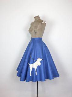 Original 50s Felt Poodle Skirt 1950s Light By MotherOfVintage