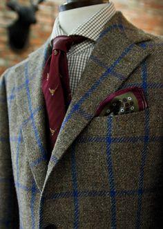 "vannikorea: "" harrisons anniversary tweed jacket made by Sartoria vanni Tie , hankerchief by Spalla. Gentleman Mode, Gentleman Style, Tweed Run, Tweed Jacket, Sharp Dressed Man, Well Dressed Men, Men In Uniform, Mens Fashion Suits, Men's Fashion"