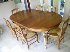 table et chaise merisre a peindre