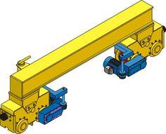 Testero con bogies GH Cranes & Components, de uso habitual en pórticos.