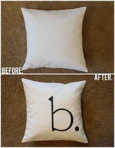 Merricks Art: Monogrammed Throw Pillow