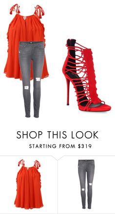 """""""Untitled #1127"""" by ania18018970 ❤ liked on Polyvore featuring Alexis, Paige Denim and Giuseppe Zanotti"""