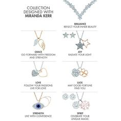 「When I designed my new jewelry collection with @swarovski I wanted the pieces to be meaningful. That's why each charm has a special name and positive…」