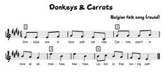 Donkeys & Carrots - use for high do and rounds Beth's Music Notes: Silly Songs!