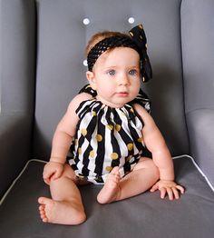 Polkadot Pillowcase Dress, Stripe Pillowcase Dress, Polka Dot Dress, Black & White Stripe Dress, Striped Girls Dress, Photography Props by CrawdadzKnittyGritty on Etsy https://www.etsy.com/listing/236276474/polkadot-pillowcase-dress-stripe