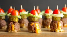 Juicy Lucy Meatballs These delicious cheese-stuffed meatball appetizers are inspired by the Juicy Lucy burger!