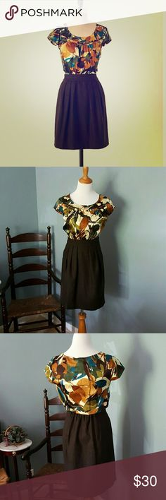 """Anthropologie Night Blooming Tabitha Dress Gorgeous and in perfect condition! Features side zip and pockets. Bust 15.5"""", waist 12.5"""", length 34"""". I adore this dress but am reposhing because I need a different size. Anthropologie Dresses"""