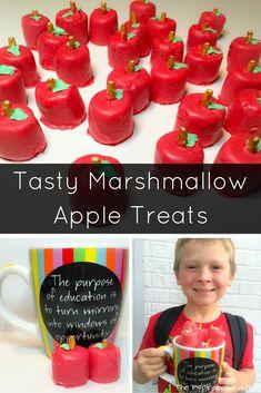 Tasty Marshmallow Apple Treats Craft Tutorial Teacher Appreciation Gift Back to School