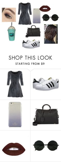 """""""Untitled #42"""" by lay-brisa ❤ liked on Polyvore featuring beauty, Influence, Anastasia Beverly Hills, adidas Originals, Kate Spade, Thakoon and L.A. Girl"""
