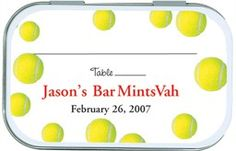 Tennis Place Card Holder Mint Tins