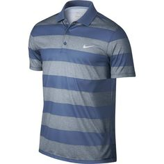 Nike Golf Victory Bold Stripe Polo - Blue Grey/Ocean Fog