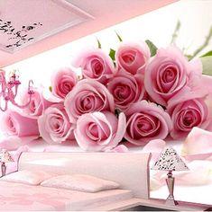 3d Wallpaper Decor, Luxury Wallpaper, Photo Wallpaper, Romantic Living Room, Rose Flower Wallpaper, 3d Wall Murals, Bedroom Wall Colors, Luxurious Bedrooms, Interior Design Living Room