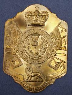 Royal Scots Stovepipe Shako Plate 1800-1812