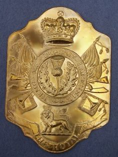 Stovepipe Shako Plate 1800-1812--- 1st (Royal Scots) Regiment of Foot- 1812