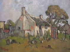 Conrad Theys, Famous South African artist South Africa Art, Out Of Africa, South African Homes, South African Artists, Fishermans Cottage, Africa Painting, Building Painting, Landscape Paintings, Art Paintings