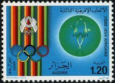 Stamp: Basketball (Algeria) (Africa Sport Games, Algier) Mi:DZ 725,Sn:DZ 615,Yt:DZ 687