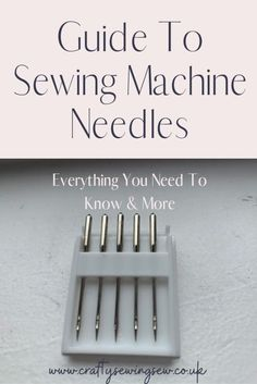 Looking to make sure you are using the right sewing machine needle? check out my guide on sewing machine needles for all the tips. Sewing Machine Basics, Sewing Basics, Sewing Hacks, Sewing Machines, Sewing Tips, Sewing Machine Brands, Sewing Machine Stitches, Sewing Ideas, Machine Embroidery