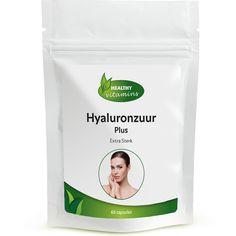 Hyaluronzuur is een glycosaminoglycaan, dat is een stof die hecht aan collageen en elastine. Hyaluronzuur heeft een voedende en beschermende werking op de huid. Onze Hyaluronzuur capsules zijn hoog gedoseerd en bevat tevens Alfa-liponzuur, Hydroxyproline en Druivenpit extract. Geschikt voor Vegetariërs. Prijs per 60 capsules: €24,95