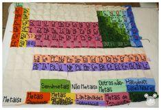 Periodic Table Blanket in tunisan crochet
