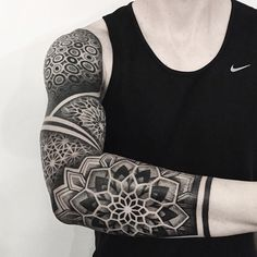 / geometric cover by Alex ( at Chronic Ink Tattoo - . - Ornamental / geometric cover by Alex ( at Chronic Ink Tattoo – … – Tattoos -Ornamental / geometric cover by Alex ( at Chronic Ink Tattoo - . - Ornamental / geometric cover by Al. Tribal Tattoos, Geometric Tattoos Men, Geometric Sleeve Tattoo, Mandala Sleeve, Modern Tattoos, Tattoo Sleeve Designs, Trendy Tattoos, Tattoo Designs Men, Black Tattoos