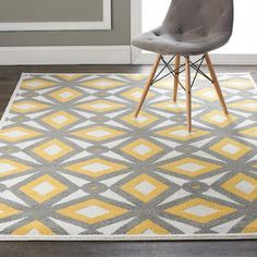 Loloi Rugs Oasis Gray & Lemon Indoor/Outdoor Area Rug - Google Search