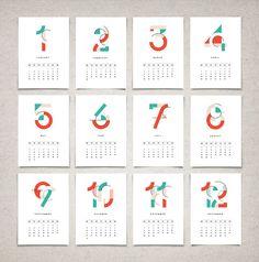 2016 Calendar Monthly Calendar Printable Mid by SunberryGraphics