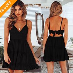 58470386595d Summer Women Lace Dress Sexy Backless V-neck Beach Dresses