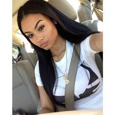 """I'm Jasmine, I'm 19 and I love sex. I love to shop, I'm a model, and I like to dance. I'm no good girl. Weave Hairstyles, Cool Hairstyles, Hair Supplies, Black Girls Hairstyles, Queen, Remy Hair, Brazilian Hair, Black Is Beautiful, Beautiful Women"