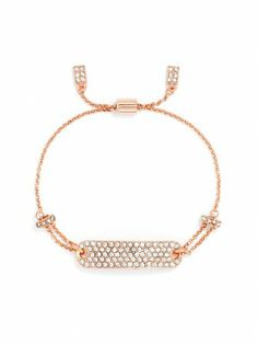 The Pavé Tag Wrap Bracelet in rose gold is to die for.