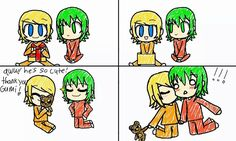 Little rin and gumi OrangeCarrot <3