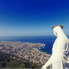 The view from our Lady of Harissa, Lebanon.