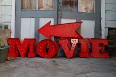 Make your very own vintage movie marquee. | 24 Ways To Decorate Like You're An Old Hollywood Star
