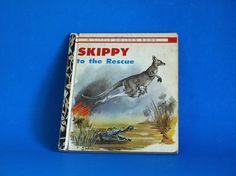 Skippy to The Rescue Story Book - Little Golden Books - 1969 - Retro Vintage Children Bush Kangaroo Hardcover by FunkyKoala on Etsy