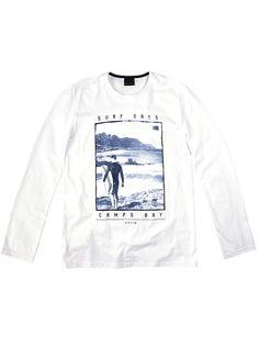 37c8f952684 Camiseta Manga Longa Branco Enfim - Enfim