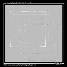Oscraps :: Shop by Designer :: Anna Aspnes Designs :: Sparkle Edge Overlays No. 1 Sparkle Edge Overlays No. 1