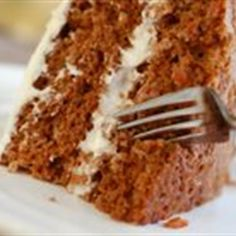 The Most Wonderful Carrot Cake Recipe Desserts with almond flour, sea salt, baking soda, cinnamon, nutmeg, eggs, honey, coconut oil, carrots, raisins, walnuts