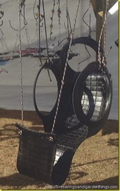 Hillbilly Hammock ~ from an old tire....