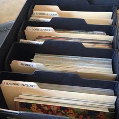 Best Way to Organize Photos in 6 Simple Steps 2019 Need To Organize Your Photos? Get Started Here The post Best Way to Organize Photos in 6 Simple Steps 2019 appeared first on Scrapbook Diy. Scrapbook Organization, Storage Organization, Organizing Tips, Scrapbook Supplies, Genealogy Organization, Picture Storage, Photo Storage Boxes, Foto Fun, D House