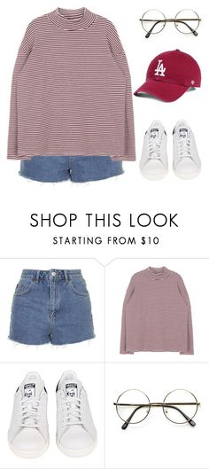 """Untitled #1177"" by sarabutterfly ❤ liked on Polyvore featuring Topshop, adidas, 60secondstyle and outdoorconcerts"