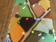 Hand Knitted Farm Rug wooden toys included. par KnittingforEthel, £130.00
