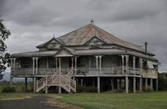 An abandoned Queenslander house in Cooktown, Australia. More More