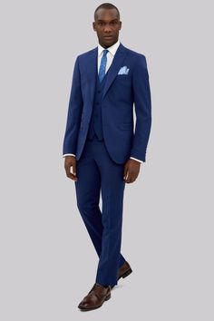 French Connection Slim Fit Bright Blue Jacket