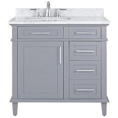 36 inch vanities bathroom vanities bath the home depot from 36 Bathroom Cabinet
