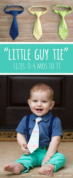 "Making the ""Little Guy Tie"" (baby and toddler tie pattern).....for MAX!!! 