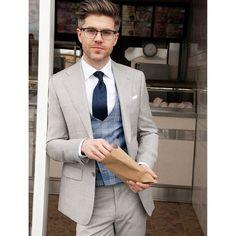 Shop #BiancoB Men's Suit Vested Modern Fit 3-Piece Blazer Extra Pants at just $199.99 buy now #menwear #menweddingcollection