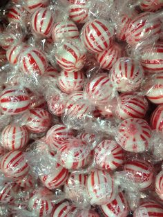 Columbina Peppermint Balls.  Big Seller During The Holiday Season And Used For Making Candy Wreaths.