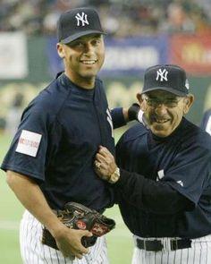 Jeter and yogi Yankee greats